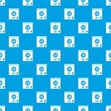 Ślimakowata kalendarzowa strona 14th Maja deseniowy bezszwowy błękit Obraz Stock