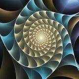 Ślimakowatego fractal ruchu wizualnego skutka sztuki cyfrowy tło ilustracji