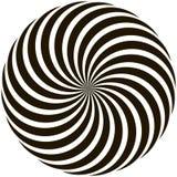 Ślimakowatego kurenda wzoru lizaka kręceni promienie ilustracji
