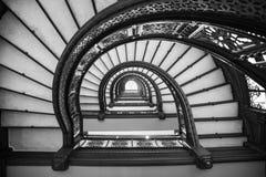 Ślimakowatego schody przyglądający up fotografia royalty free