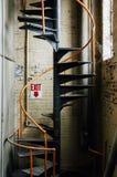 Ślimakowaty Żelazny schody - Zaniechany Tekstylny młyn Zdjęcia Stock