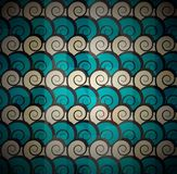 Ślimakowaty błękita wzór Zdjęcia Royalty Free