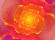 Ślimakowaty fractal tło Obrazy Stock