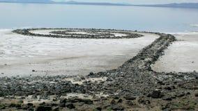 Ślimakowaty Jetty na Wielkim Salt Lake Zdjęcia Stock