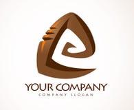 Ślimakowaty logo Obraz Stock