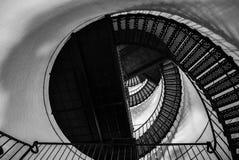 Ślimakowaty schodek wierzchołek łowiecka wyspy latarnia morska Fotografia Stock