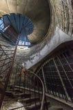 Ślimakowaty schody kolumnada St Isaac katedra w St fotografia stock