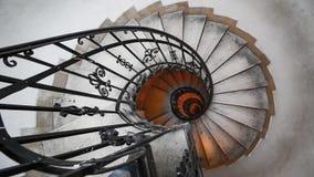 Ślimakowaty schody w starym domu Fibonacci spirala obraz royalty free