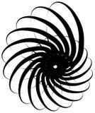 Ślimakowaty volute, ślimaczka kształt, element Wirujący, twirling abstrakt ilustracja wektor
