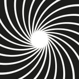 Ślimakowaty wzór w czarny i biały ilustracja wektor