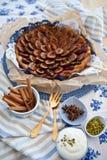 Śliwka świeży tort Zdjęcia Stock