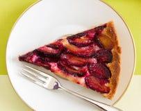 Śliwka tort Fotografia Stock