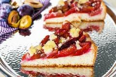 Śliwka tort zdjęcia royalty free