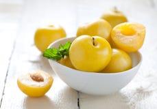 śliwki kolor żółty Obrazy Stock