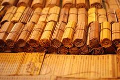 Ślizgania bambus dla pisać Fotografia Royalty Free