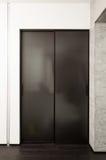 Ślizgowa drzwiowa garderoba Obraz Stock