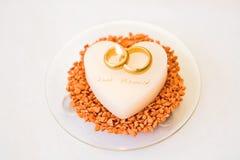 ślub świeczki serca Zdjęcia Royalty Free