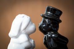 Ślub Ms Biały i Mr Czarny Zdjęcie Stock