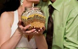 Ślubna świeczka fotografia stock
