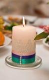 Ślubna świeczka zdjęcia royalty free