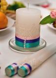 Ślubna świeczka obrazy stock