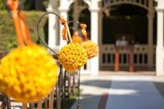 Ślubna ceremonia w ogródzie zdjęcia stock