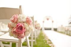 Ślubna ceremonia w ogródzie zdjęcie royalty free