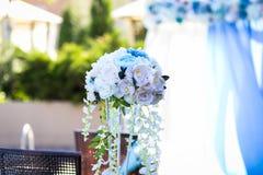 Ślubna dekoracja, dekoracja sala, piękny bukiet Obrazy Royalty Free