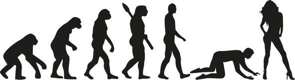 Ślubna ewolucja - para niewolnik royalty ilustracja