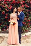 Ślubna fotografia piękna czuła para Zdjęcia Stock