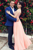 Ślubna fotografia piękna para Obrazy Royalty Free