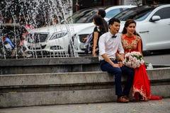Ślubna fotografii sesja obrazy royalty free