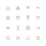 Ślubna ikona royalty ilustracja
