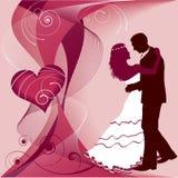 Ślubna karta Obrazy Royalty Free