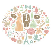 Ślubna karta Zdjęcie Royalty Free