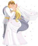 Ślubna królewska para Zdjęcia Royalty Free