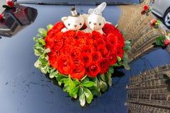 Ślubna kwiat dekoracja fotografia royalty free