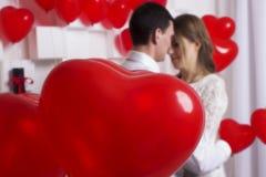 Ślubna piękna para Zdjęcia Royalty Free