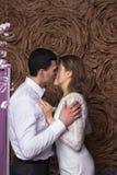 Ślubna piękna para Obrazy Royalty Free