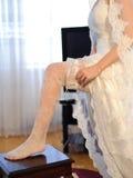 Ślubna podwiązka zdjęcie stock