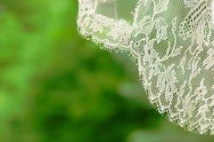 Ślubna przesłona z romantyczną broderią zdjęcia stock