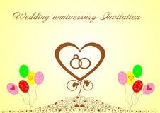 Ślubna rocznica Invitation Zdjęcie Stock