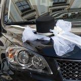 Ślubna samochodowa dekoracja Obraz Royalty Free