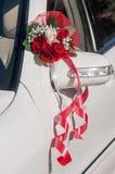 Ślubna samochodowa dekoracja Zdjęcia Royalty Free