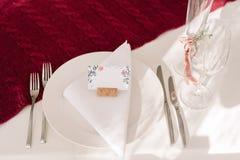 Ślubna stołowa dekoracja dla panny młodej Obrazy Stock