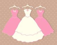 Ślubna suknia ilustracja wektor