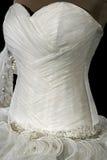 Ślubna suknia. Detail-52 Obrazy Royalty Free