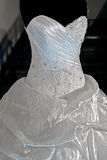 Ślubna suknia. Detail-22 Obrazy Royalty Free