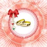 Ślubna zaproszenie karta Obraz Royalty Free