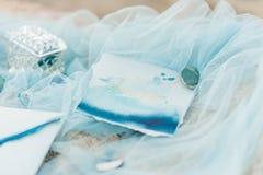 Ślubna zaproszenie karta dla ślubu Zdjęcia Stock